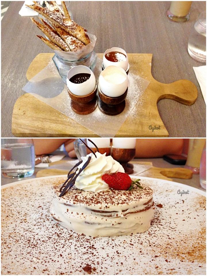 French Toast Fondue and Tiramisu Pancakes